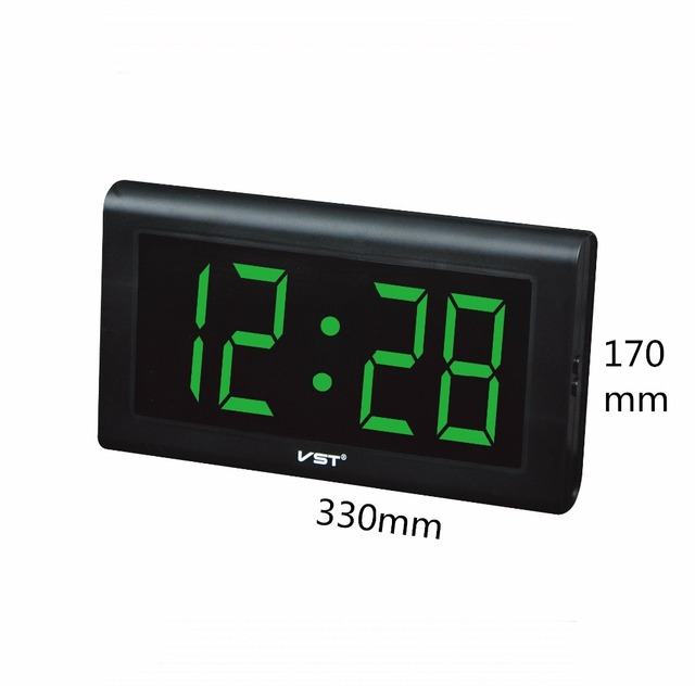 VST 795 LED digital table/wall clock home modern simple decor clock HD screen big numbers display wall clock electronic clock