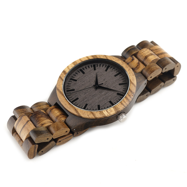 BOBO BIRD Vintage Zebra Men Bamboo Watch