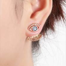 630ce1804 New Fashion Women Earring Devil Eyes Eyelashes Stud Earrings Lady Jewelry