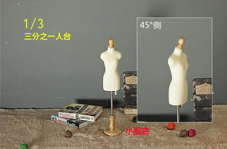 1 3Female dresses form Mannequin play jewelry flexible women sewing 1 3scale Jersey bust adjustable rack