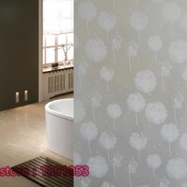 Pissenlit Verre Fenêtre Autocollants Chambre Salon Salle De Bains - Verre fenetre salle de bain