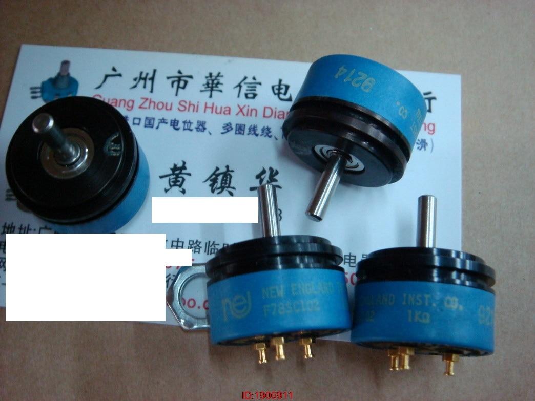 1pcs/lot British F78SC 102 1K conductive plastic potentiometer angle sensor shaft1pcs/lot British F78SC 102 1K conductive plastic potentiometer angle sensor shaft