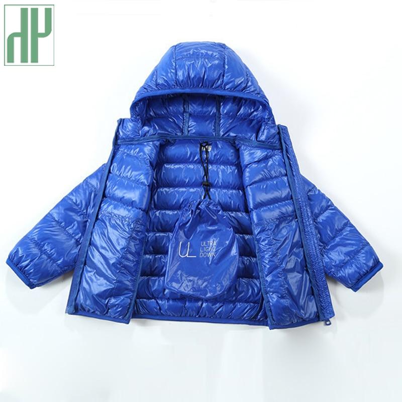 HH barn jacka Ytterkläder Pojke och tjej höst Varm ned Hooded Coat - Barnkläder - Foto 4