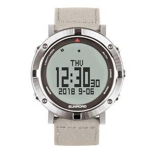 Мужские Цифровые Спортивные наручные часы SUNROAD, барометр, компас, шагомер, часы с высотомером