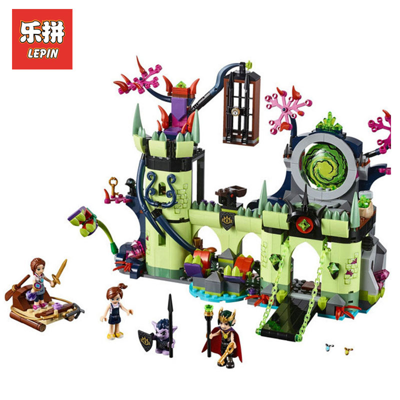 Lepin 30011 750Pcs Genuine Breakout from the Goblin King's Fortress 41188 Model Building Blocks LegoINGlys Elves Bricks Boy toys lepin 30017 505pcs elves series the aira