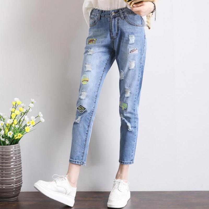 Online Get Cheap Ripped Jeans with Badges -Aliexpress.com ...