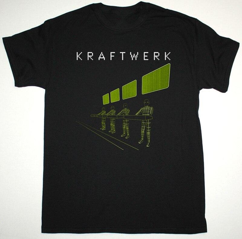 Футболка кавычки Мужская мода 2018 О-образным вырезом Kraftwerk Expo Remix с коротким рукавом Футболки для девочек