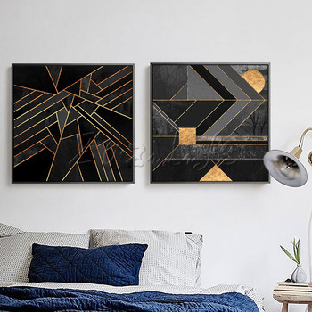 Poster and print geometry,Nordic modern abstract watercolor on canvas,wall pictures for living room home decor,cuadros art