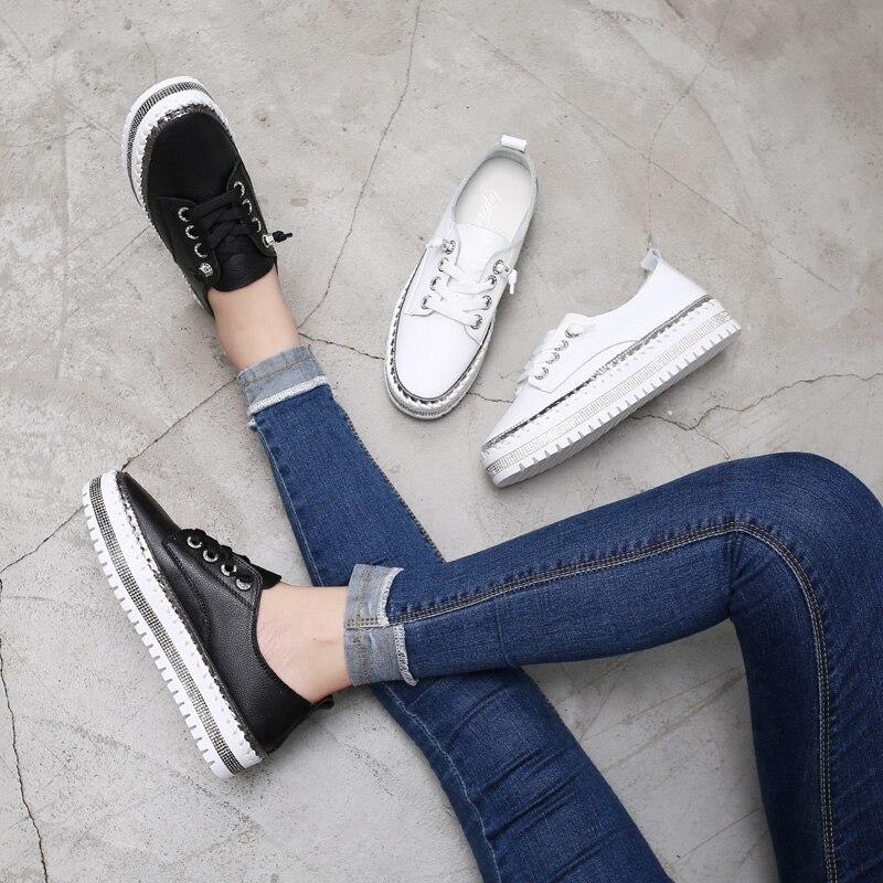 senhoras sapatos casuais femininos branco tênis planos