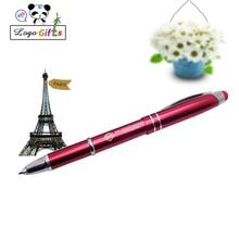 500pcs LED light pen metal mobile touch ballpoint screen press capacitance Can be customized logo