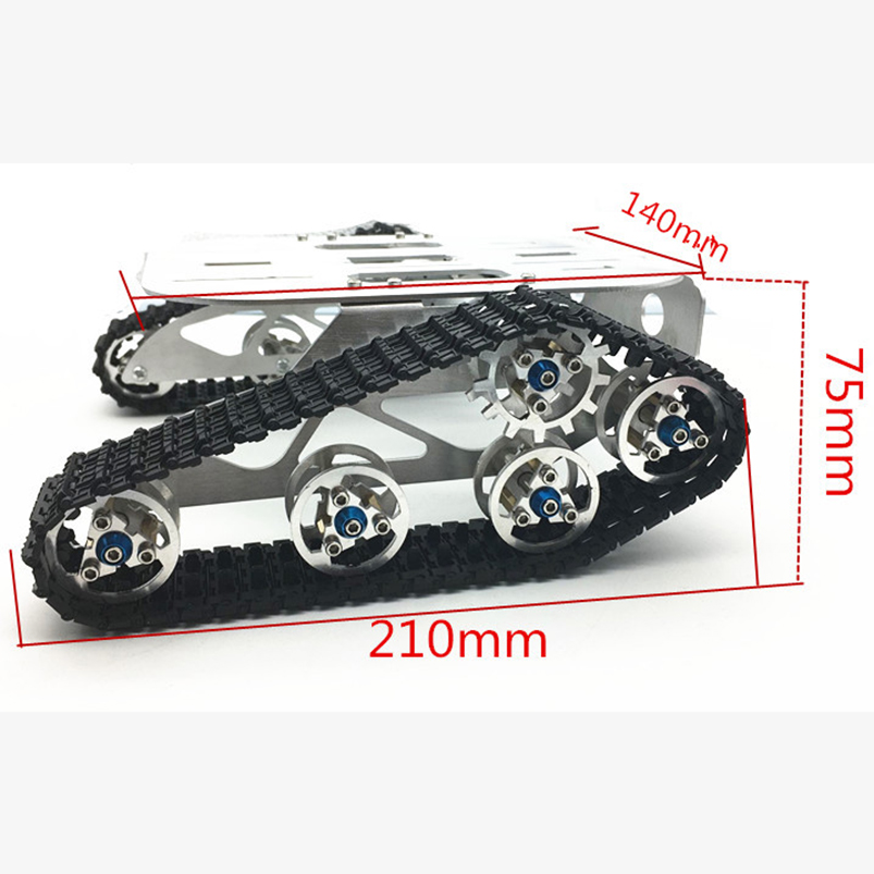 RC Aluminum Alloy Tank Chassis Wall-e Caterpillar Tractor Crawler Intelligent Robot Car 210*140*140*75mm F22502 official doit rc metal tank chassis wall caterpillar tractor robot wall e crawler wall brrow land car diy rc toy remote control
