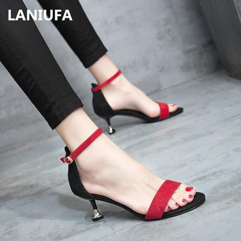 Clásicos Tobillo De Alto Sandalias Para Medio Tacón Correa Zapatos Gladiador Mujer zVGUpLqSM