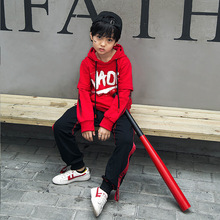 Spring Korean Fashion Kids Sport Clothes For Boys Girls Hip Hop Streetwear Hoodie Jacket Pants Two Pieces Outfits Set