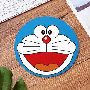 Image 4 - 20cm dos desenhos animados animal padrão mouse almofada redonda mousepad escritório ratos almofada de borracha computador em casa anti deslizamento esteira de mesa sala de estudo pc