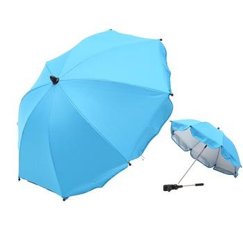 Składany parasolka dziecięca na świeżym powietrzu dla dzieci słońce Parasol wózek pokrowce na wózek dla dziecka akcesoria odporne na słońce odporny na deszcz Parasol słońce schronienie tanie i dobre opinie 1000-1500mm Pręt stalowy Pojedynczy namiot baby sun shade umbrella