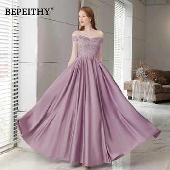 Robe De Soiree Off The Shoulder Purple Long Evening Dress Floor Length Vintage Prom Dress Vestido De Longo 2019 - DISCOUNT ITEM  38% OFF All Category