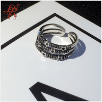 L&P 100% 925 Sterling Silver Mix Macth Rings For Women Hot Sale silver Stars Ring Fashion Punk Style Brand Fine