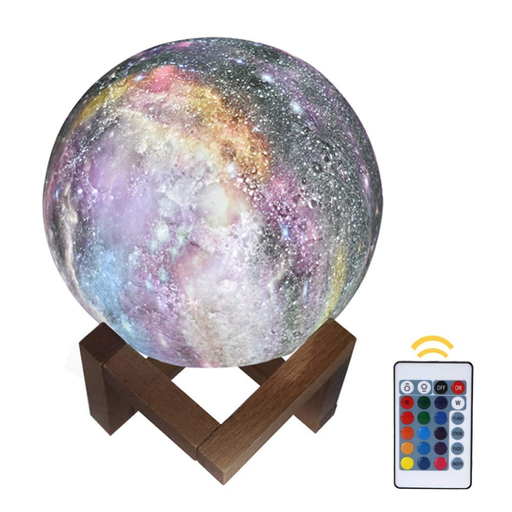 3D Painted Moon Lamp/Light 15Cm 16 Colors Led Night Light Baby/ For Children's Room Bedside Lamp Rechargeable Touch Lamps Gift cartoon bees night light dc 5v usb rechargeable night lamps touch dimming led table lamp baby children gift bedside lamp