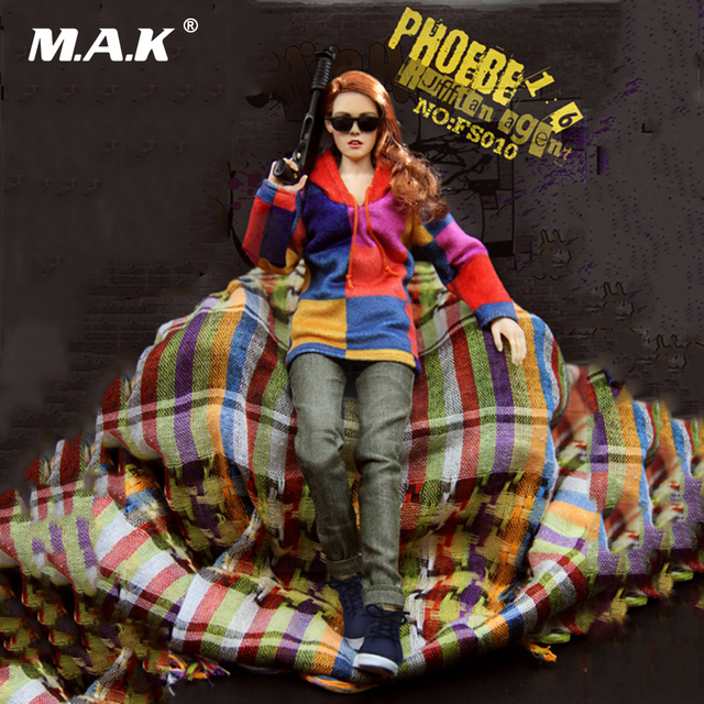 1/6 Scale Female Full Sets Figure FS010 PHOEBE Ruffian Agent Action Figure Toys Gifts for Collection