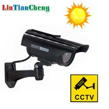 LINTIANCHENG Dummy Camera Solar CCTV Outdoor Bullet Waterproof Fake IP Home Security Street Surveillance