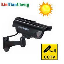 цена на LINTIANCHENG Dummy Camera Solar powere CCTV Outdoor Bullet Waterproof Fake Camera For Security Street surveillance