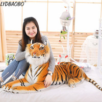 1PC 75CM New Giant Simulation Tiger Plush Doll Baby Cute Soft Pillow Animal Toys Cartoon Children Kid Birthday Gifts Home Decora