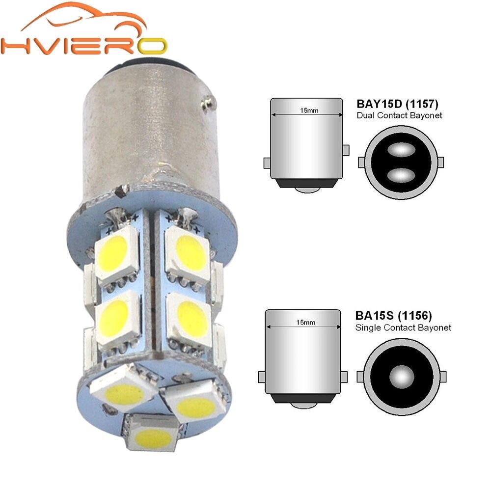 1156 BA15S 1157 BAY15D P21W BA15D 13Led 5050 Car Led Turn Parking Signal Lights Brake Tail Lamps Auto Rear Reverse Bulbs DC 12V 1157 bay15d 5050 30 smd 4w 6500k 360lm led car light bulbs dc 14v pair page 3