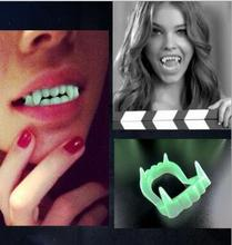 Glow in the Dark Devil Tooth Fangs Caps Zombie Vampire luminous Dentures Halloween Party Props Toys Supplies  YH1056