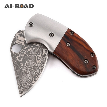 Damascus Steel Folding Knife Outdoor Portable Pocket EDC Tools Hunting Knives Camping Jackknife  Tactics Survival Knives stenzhorn new damascus black antelope folding knife outdoor portable field army high hardness wilderness survival small knives