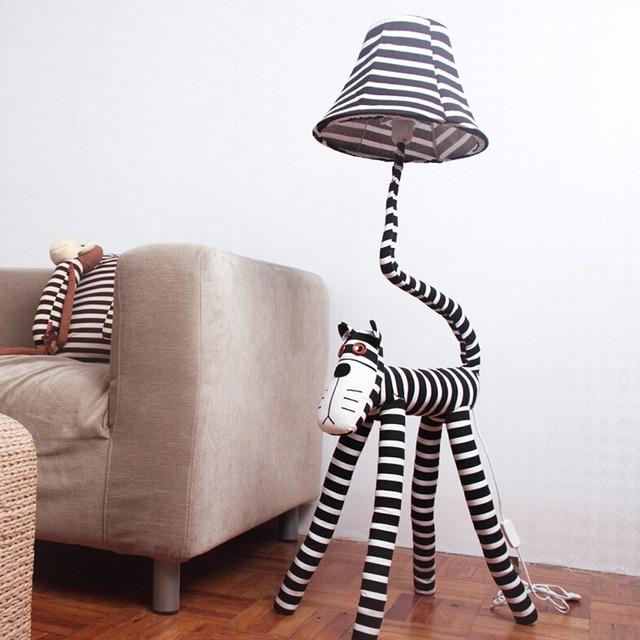 High Quality 110V/220V E27 Children Room Light Luxurious Bedroom Design Kids  Floor Lamp Led Cute Cat Star Children Room Light