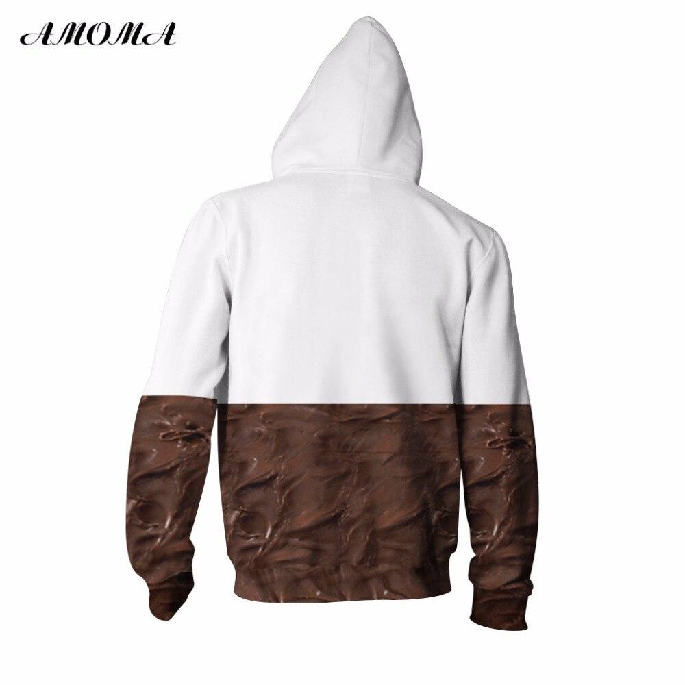 8e8e0cd655a5 AMOMA Unisex Realistic 3d Digital Print Pullover Zip Hoodie Sweatshirt  Nutella-in Hoodies   Sweatshirts from Women s Clothing on Aliexpress.com