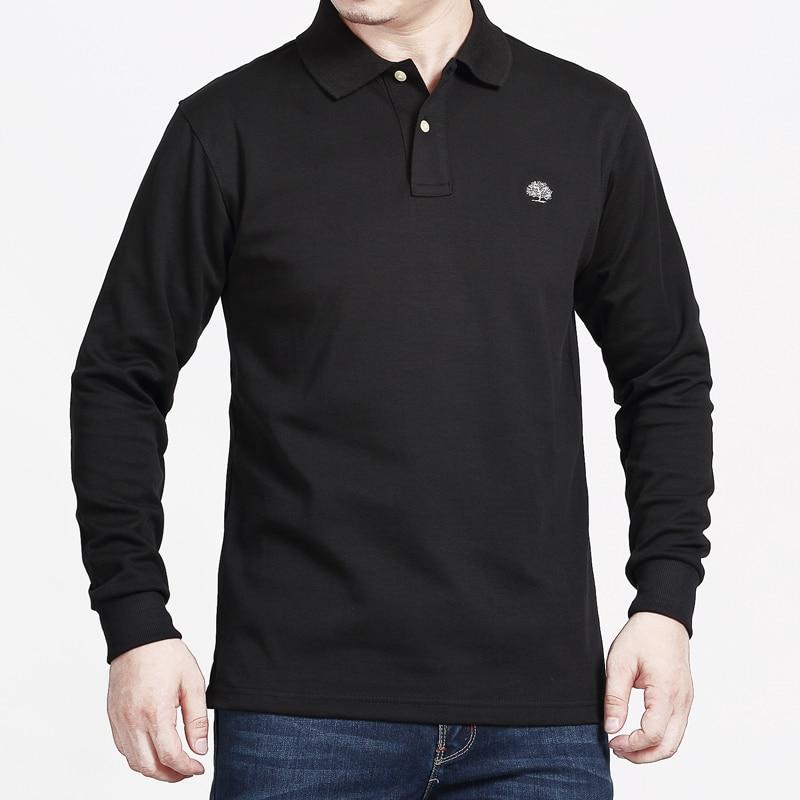 Men's Polo Shirt Long Sleeve Polo Men Brand Tace & Shark High Quality 95% Cotton Embroidery Men Clothes 2019 Euro Size 4XL 5XL