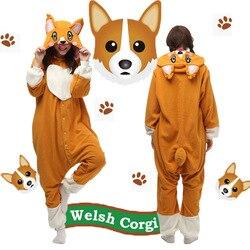 عيد الميلاد هالوين هدية عيد ميلاد فصيل كورجي الكلب Homewear هوديي منامة نيسيس ملابس خاصة رداء للبالغين