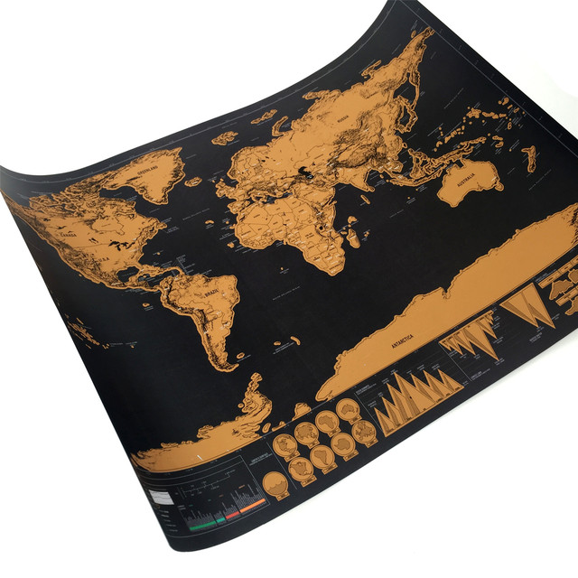 1 шт. Новое поступление, Роскошная Карта мира, персонализированная карта мира, мини-скретч для путешествий и украшения дома, настенный плакат