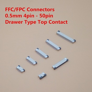 10Pcs FPC Connector socket FFC 0.5MM Drawer type Top Contact 4P 6P 8P 10P 12P 14P 16P 18P 20P 22P 24P 30P 32P 34P 40P 50P 60P 10set fc 6p fc 8p fc 10p fc 14p fc 16p to fc 40p idc socket 2x5 pin dual row pitch 2 54mm idc connector 10 pin cable socket