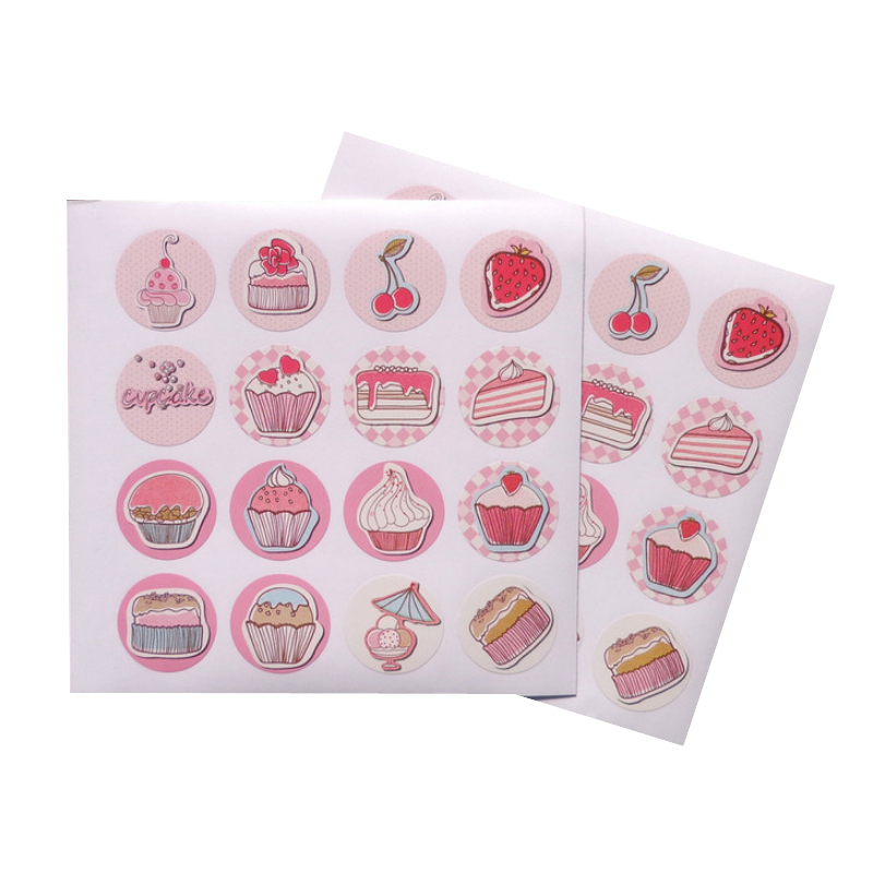Étiquette autocollante de scellage pour boîte de Cupcake   Autocollant décoratif rose pour cadeau de mariage, fournitures de fête, 160 pièces/paquet