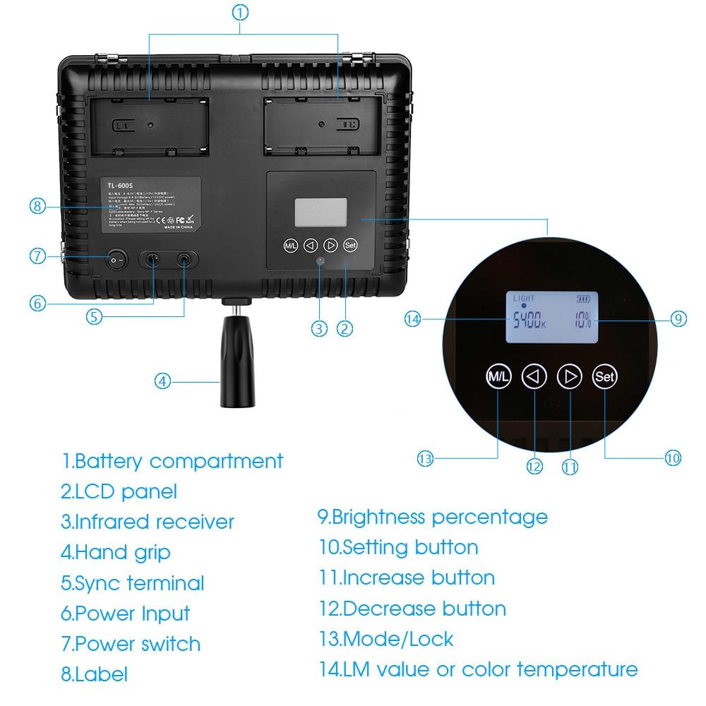 Торордың TL-600 жарықдиодты бейнебеті - Камера және фотосурет - фото 2