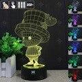 HUI YUAN Joe lâmpada a Luz Da Noite 3D RGB Mutável Mood Lamp LED decorativo candeeiro de mesa de luz dc 5 v usb obter um free controle remoto