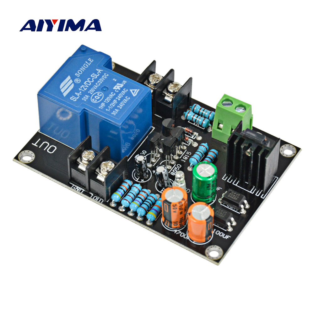 Aiyima Mono Independent Speaker Protection Board 30A High Power Protection Board For Audio Amplifier DIY aiyima upc1237 speaker protection board dual channel power on delay dc protect module 11 26v for audio amplifier amp diy