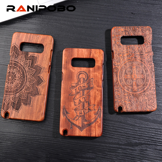 outlet store a3b87 e8d59 US $7.99 20% OFF|Retro Bamboo Wood Skull Carving Case for Galaxy Note 8 Top  Quality 100% Original Wood Cases For Samsung Galaxy Note 8-in Fitted Cases  ...