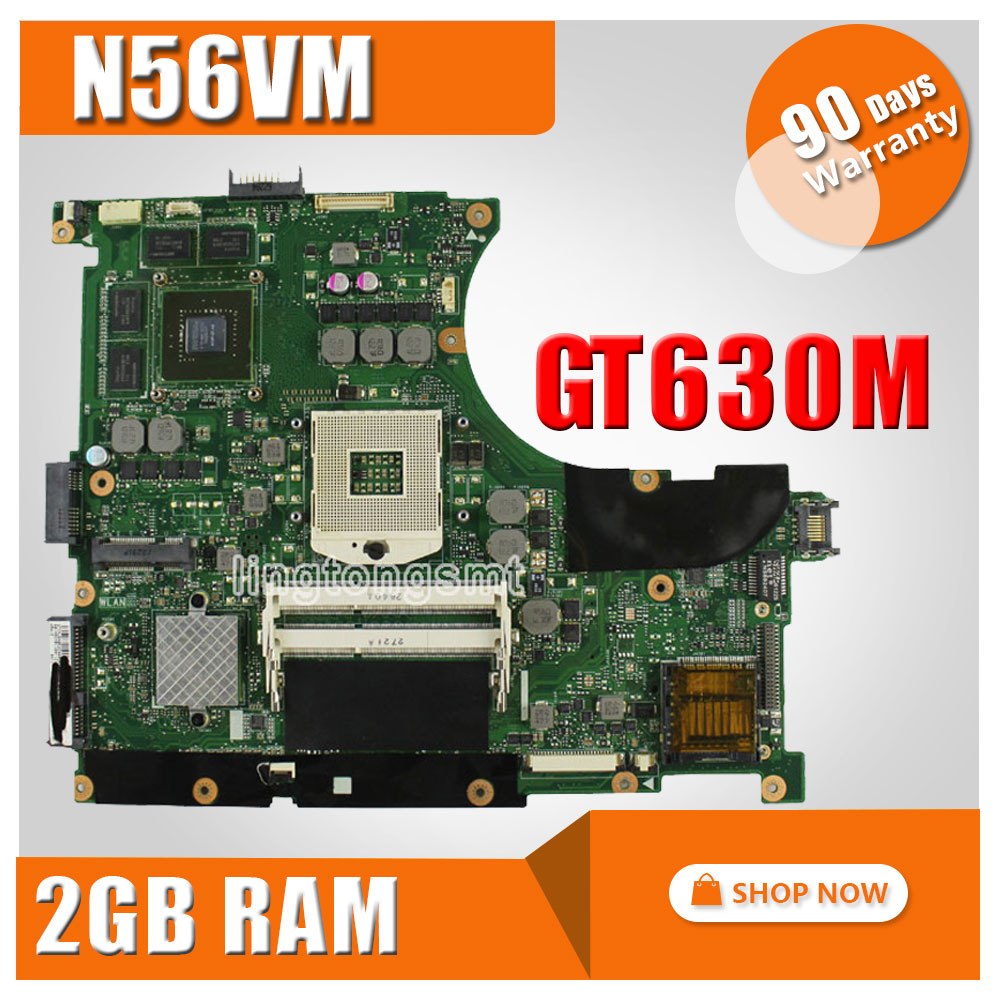 Original for ASUS n56vm laptop motherboard N56VM Rev 2.3 N56VJ N56VZ non integrated GT630M 2GB motherboard ipc motherboard sbc81206 rev a3 rc 100