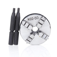 50mm Mini Drill Lathe Chuck 4 Jaw Reversible Self-Centering M14 Thread Mount With Lock Rods K02-50 and 2x Rod