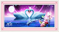 Only Love Swan Lake DIY 5D Diamond Painting Embroidery Cross Stitch Kit Rhinestones Crystal Round Drill
