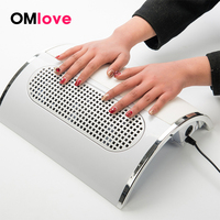OMlove Nail Dust Suction Collector Nail Dust Vacuum Cleaner Manicure Salon Tools with 3 Powerful Fans EU Plug Nail Art Equipment