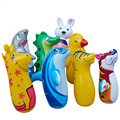 90cm Inflatable Cartoon Animal Tumbler Roly Poly Toy Kids Pressure Release Stand Up Punching Bop Bag Children Boxing Traning