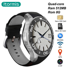 itormis Bluetooth Android Smart Watch Smartwatch SIM Card Phone Watch Quad core MTK6580 ROM8GB+RAM512MB S1 plus WiFi GPS Camera