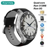 itormis Smart Watch Bluetooth Smartwatch Quad core Android 5.1 SIM TF Card MTK6580 ROM 8GB RAM 512MB S1 plus WiFi GPS Camera