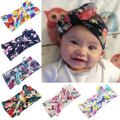 Leading trend Store Hot Girl Headband Bohemia Bowknot Flower Headdress Hairband Elastic 6RCS 7EIB