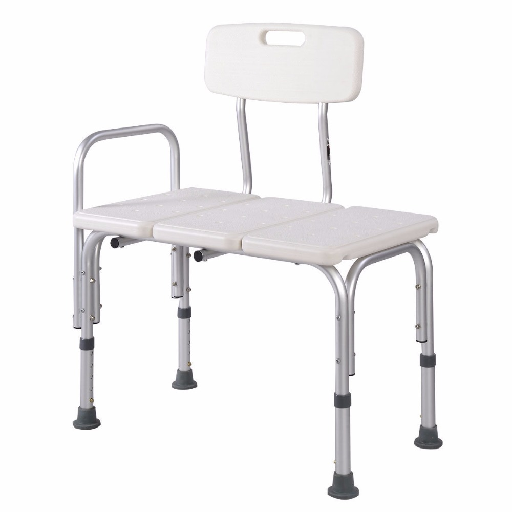 Shower Bath Seat Medical Adjustable Bathroom Bath Tub Transfer Bench ...