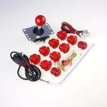 Gra zręcznościowa DIY Zestawy Części 10 x Zręcznościowa Push Przyciski + USB PC Enkodera Wyżywienie + Oryginalne Sanwa Joystick Z Mikro Przełącznik Dla MAME